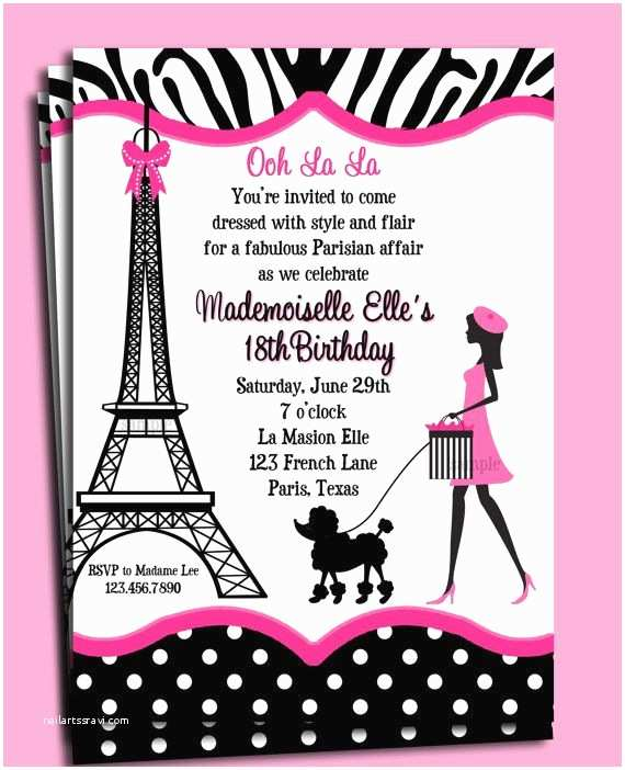 Paris Party Invitations 17 Best Images About Tarjetas torre Eiffel On Pinterest