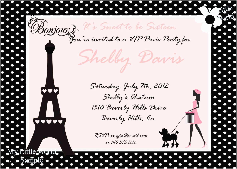 Paris Party Invitations Kitchen & Dining