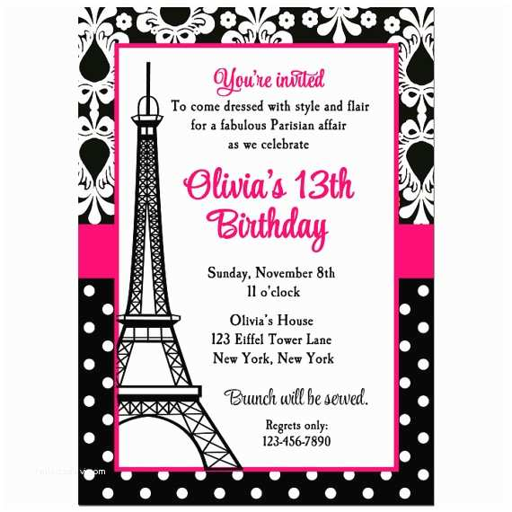 Paris Party Invitations Paris Invitation Printable or Printed with Free Shipping