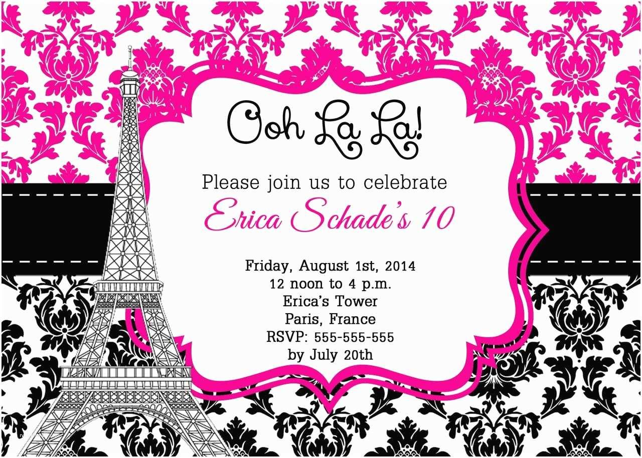 Paris Party Invitations Paris Party Invitations Google Search