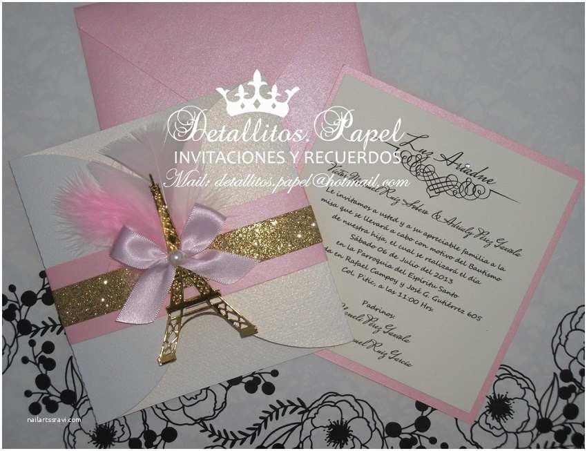 Paris Themed Quinceanera Invitations Sweet 16 Invitation Paris Theme