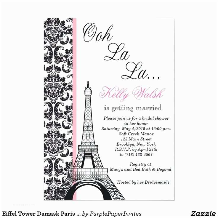 Paris Themed Wedding Invitations 25 Best Ideas About Paris Invitations On