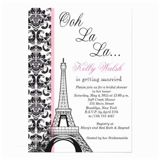 Paris Themed Wedding S Eiffel Tower Damask Paris Bridal Shower
