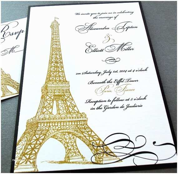 Paris Themed Wedding Invitations Eiffel Tower Paris Invitations Weddings Quinceañera