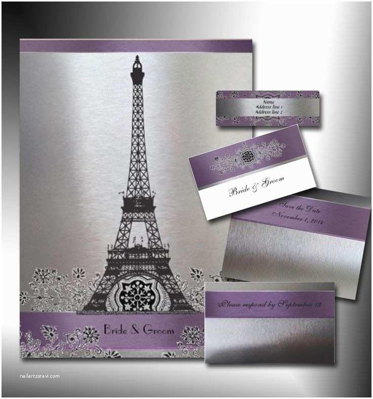 Paris Themed Wedding Invitations Paris Invitation