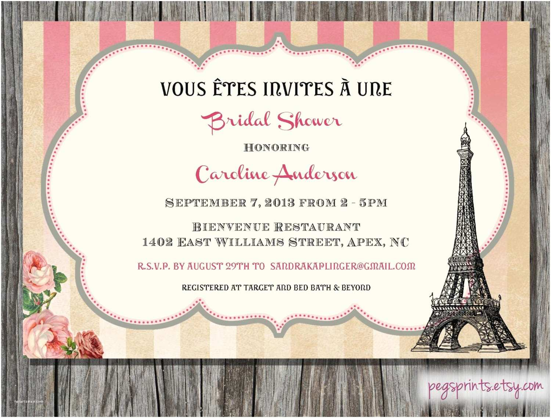 Paris Themed Wedding Invitations Paris Themed Bridal Shower Invitation Printable By