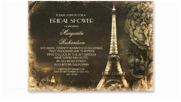 Paris themed Wedding Invitations Paris themed Bridal Shower Invitations – Gangcraft