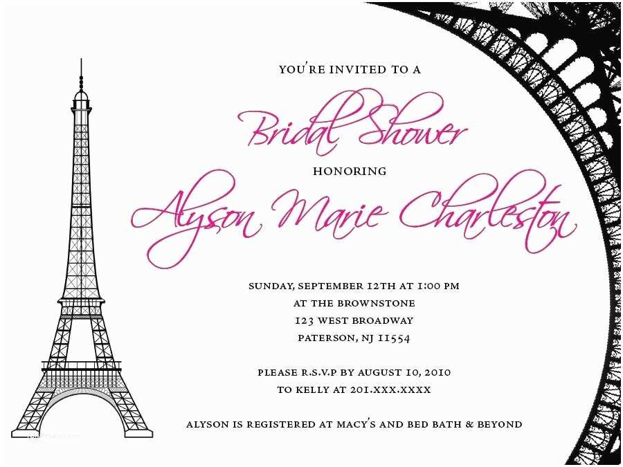 Paris Themed Wedding Invitations Paris Themed  Shower Invitations Paris Themed