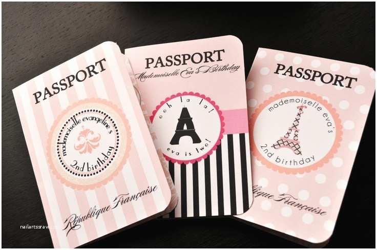 Paris Themed Wedding Invitations Paris Themed Passport Invitations For Birthday