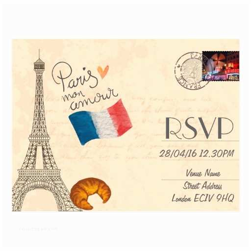 Paris Themed Wedding Invitations Paris Themed Wedding Rsvp Invitation With
