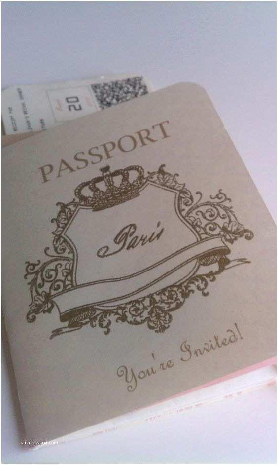 Paris themed Wedding Invitations Passport Invitation by Harlowcreations On Etsy $5 00