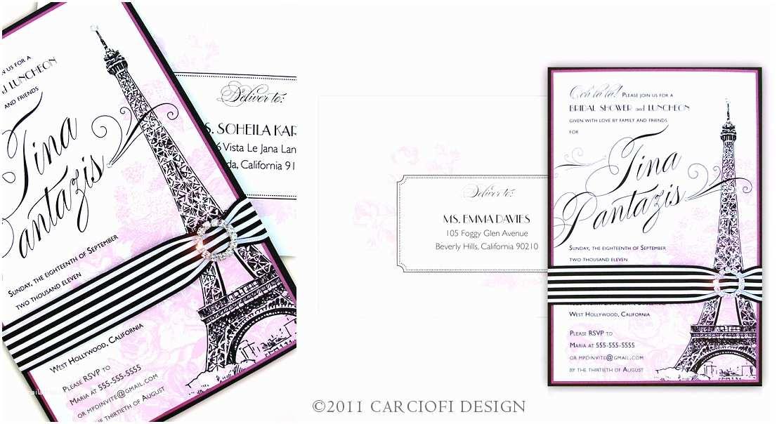 Paris Themed Wedding Invitations Starla S Blog Elegant Champagne Gold Ivory