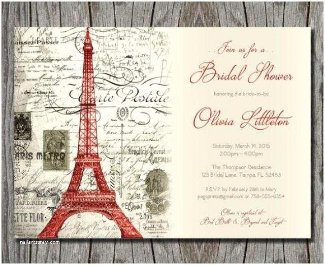 Paris Themed Wedding S Vintage Red Paris Themed Bridal Shower