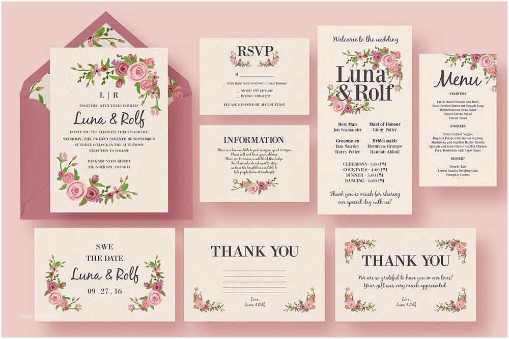 Parts Of Wedding Invitation 50 Wonderful Wedding Invitation & Card Design Samples