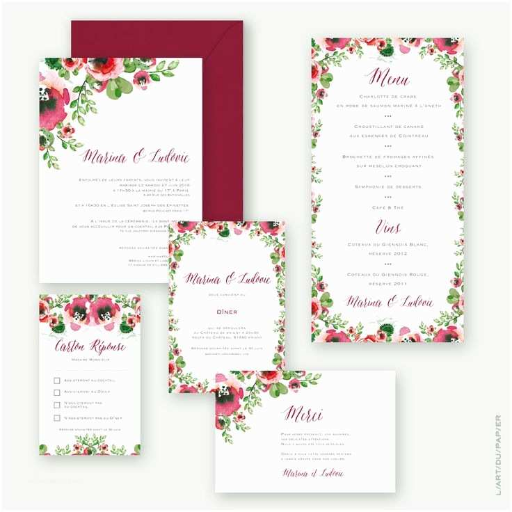Parts Of Wedding Invitation 55 Best Mariage Faire Part & Papeterie Images On