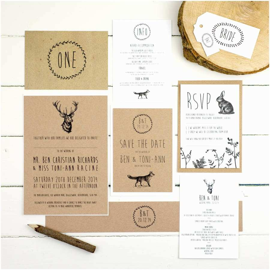 Parts Of Wedding Invitation Enchanted forest Wedding Invitation by Russet and Gray
