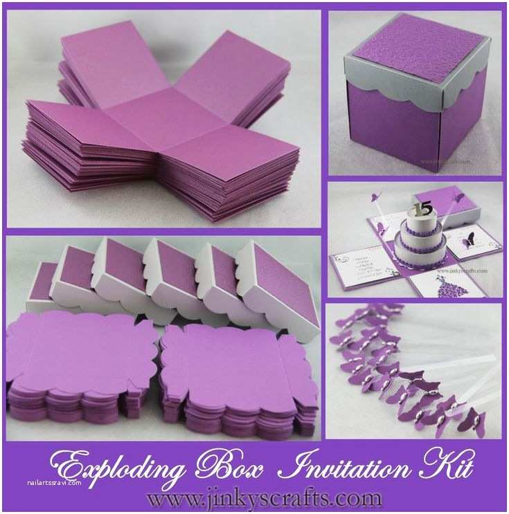 Parts Of Wedding Invitation Exploding Box with 3 Tier Cake Invitation Diy Kit This is
