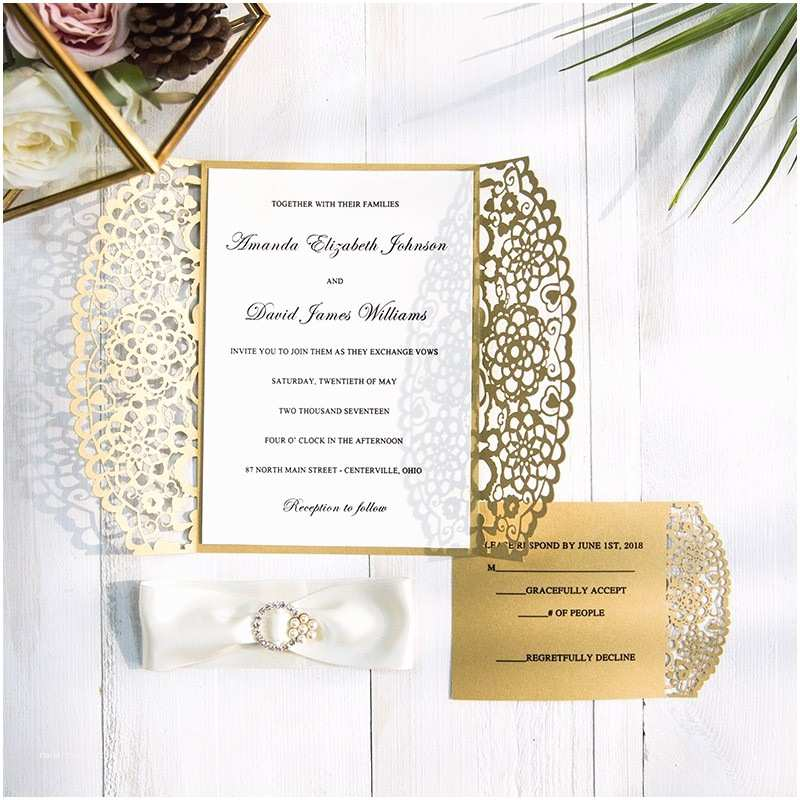 Parts Of Wedding Invitation Laser Cut Wedding Invitations