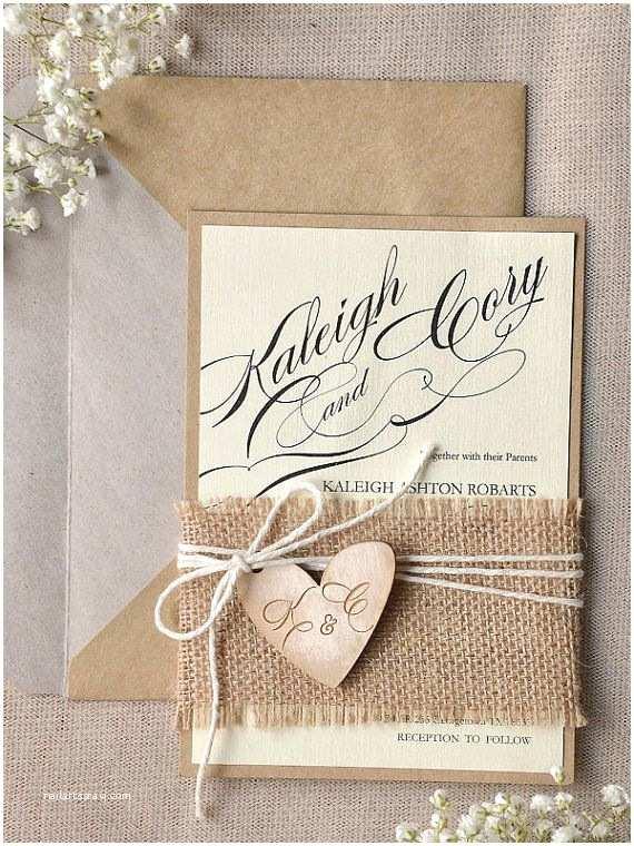Parts Of Wedding Invitation Rustic Wedding Invitation See More Here