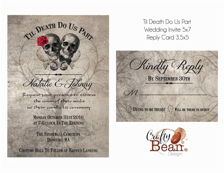 Parts Of Wedding Invitation Til Death Do Us Part Wedding Invitation Diy Printable with