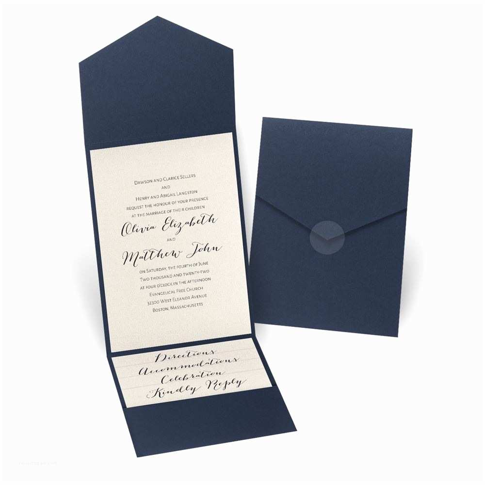 Parts Of Wedding Invitation total Elegance Pocket Invitation