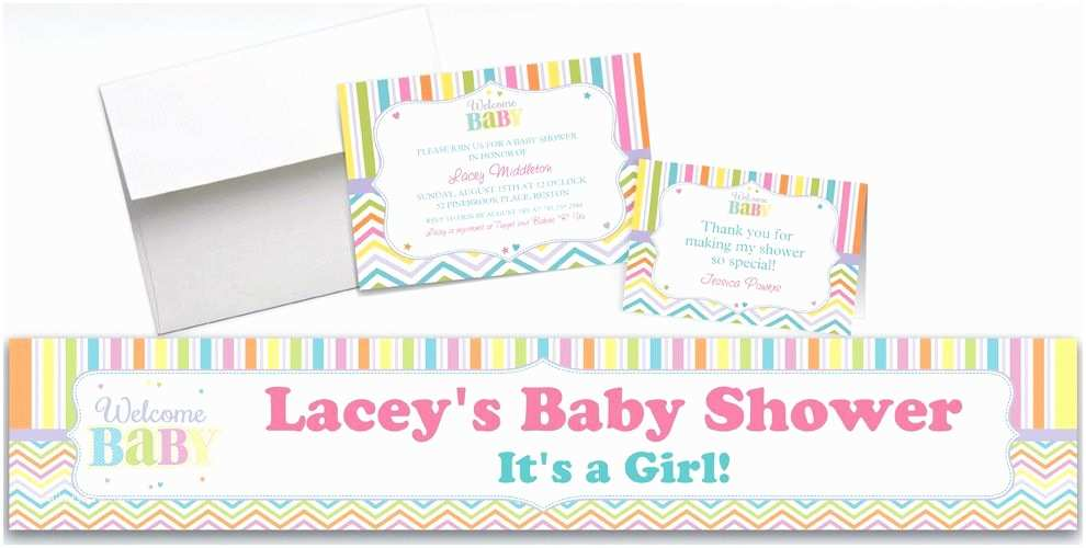 custom baby brights baby shower invitations thank you notes