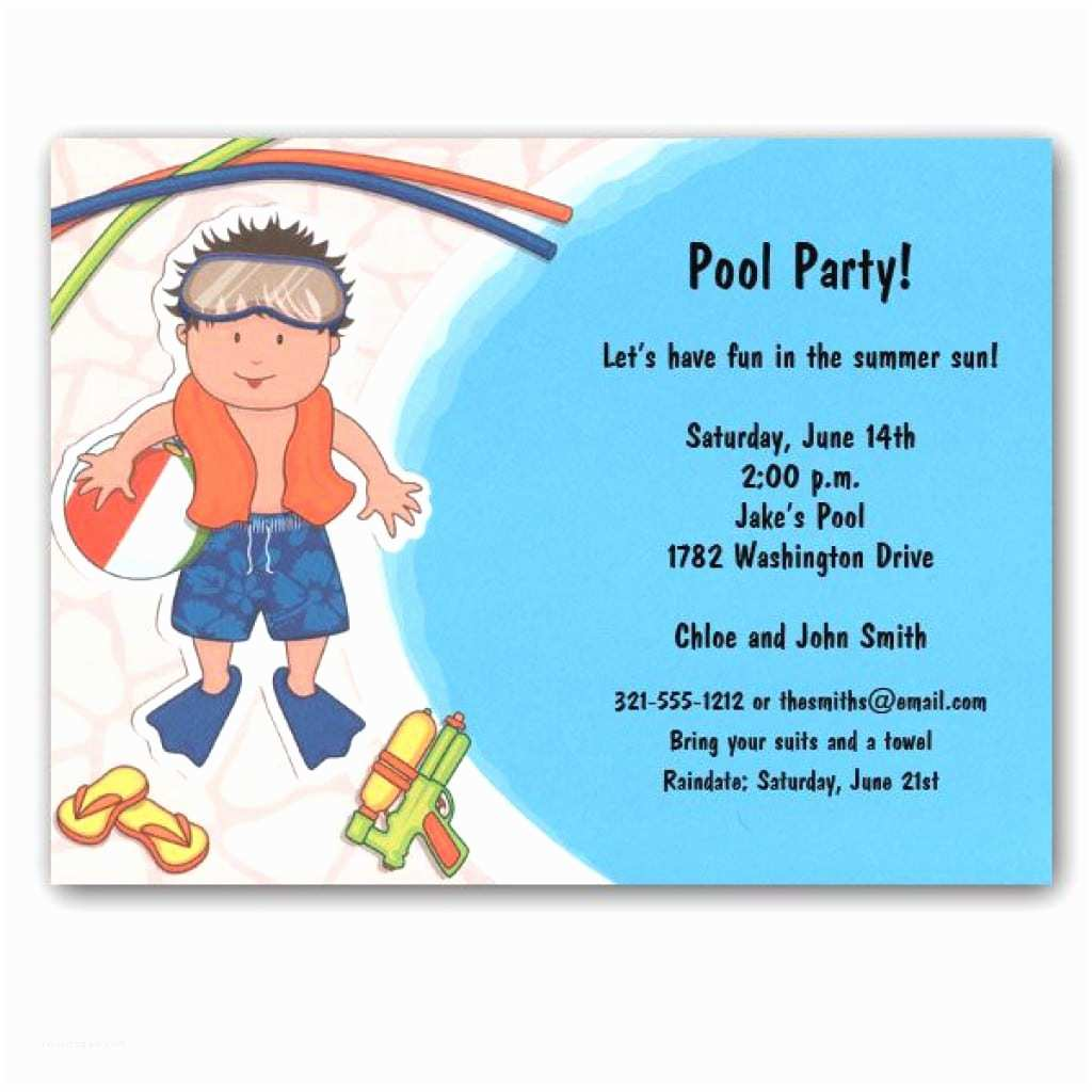 Party City Birthday Invitations Birthday Pool Party Invitations Birthday Party Ideas