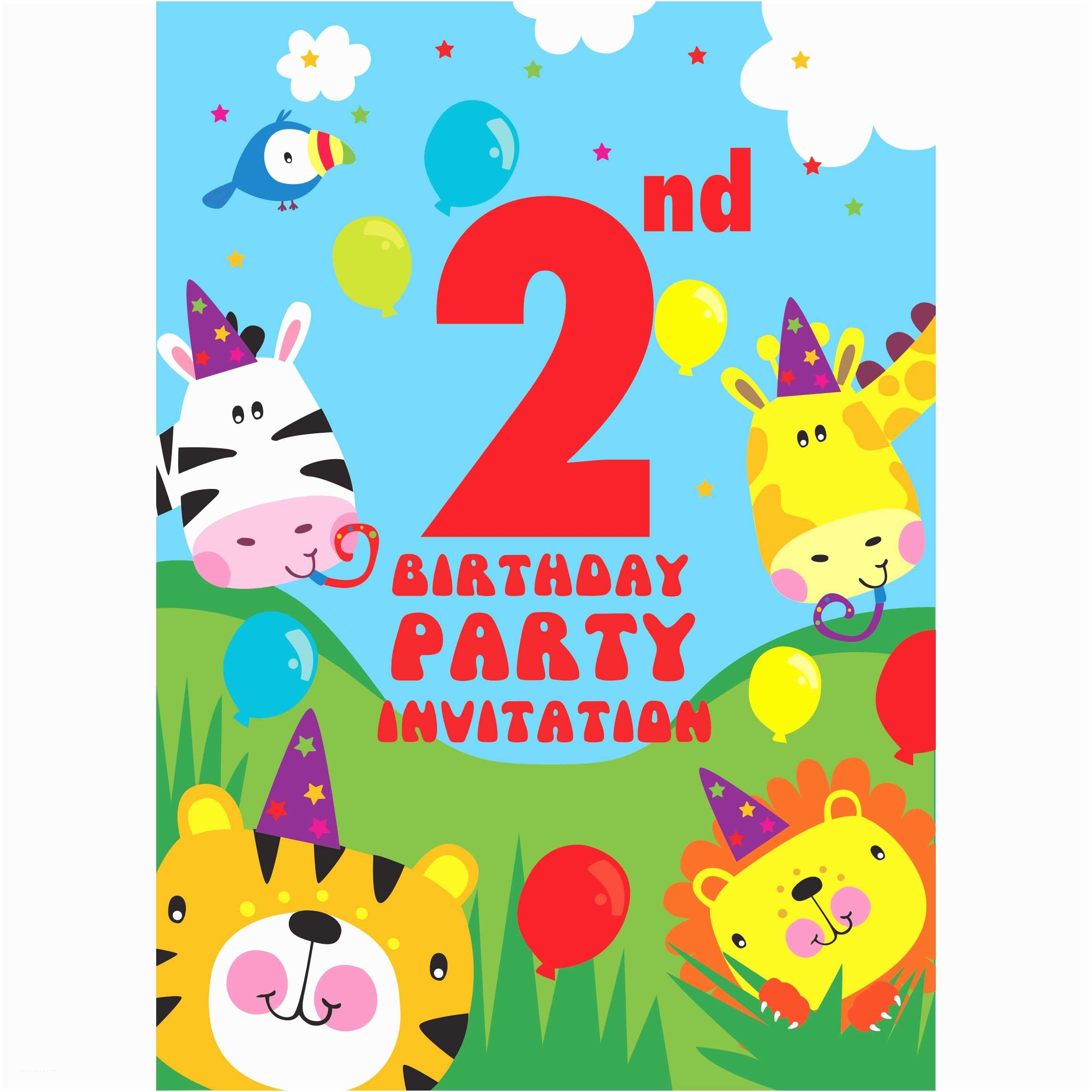 Party City Birthday Invitations Party Deko Zum 2 Geburtstag