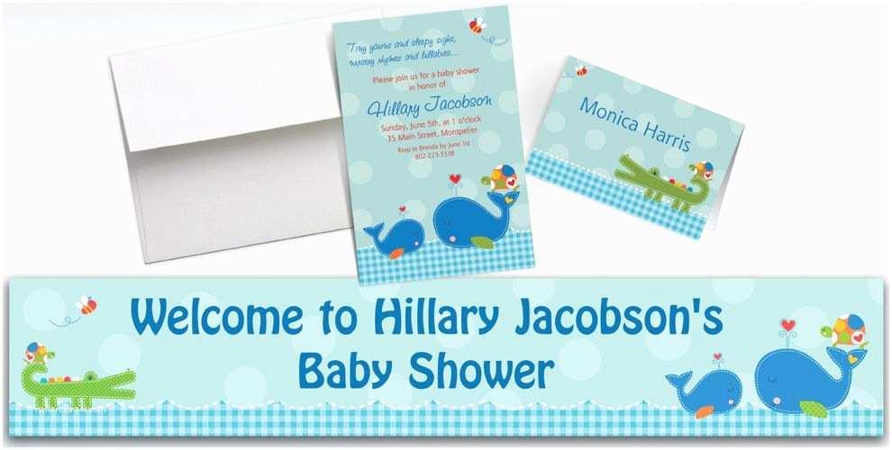 Party City Custom Invitations Custom Ahoy Baby Shower Invitations & Thank You Notes