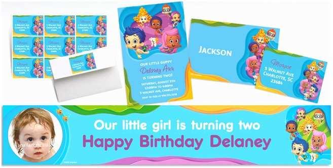 Party City Custom Invitations Custom Bubble Guppies Invitations & Thank You