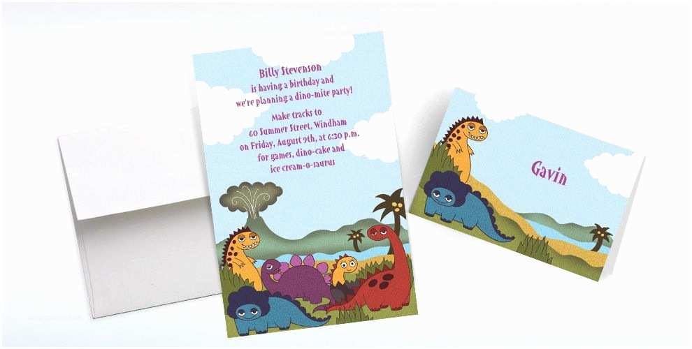 Party City Custom Invitations Custom Dinosaurs Invitations & Thank You Notes Party City