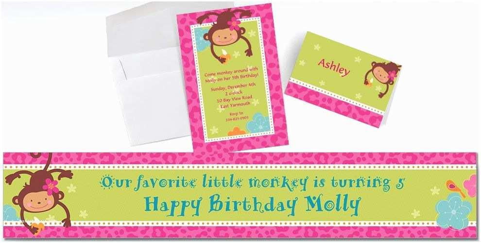 Party  Custom Invitations Custom Monkey Love Invitations & Thank You Notes Party