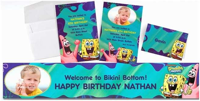 Party City Custom Invitations Custom Spongebob Invitations & Thank You Notes Party City