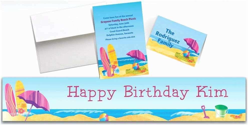 Party City Custom Invitations Custom Surf S Up Invitations & Thank You Notes Party City