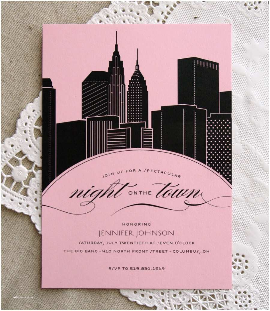Party City Custom Invitations Items Similar To Skyline Bachelorette Party Invitation