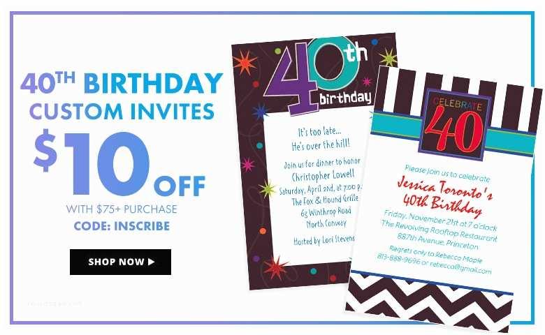 Party City Custom Invitations Milestone Birthday Banners Top