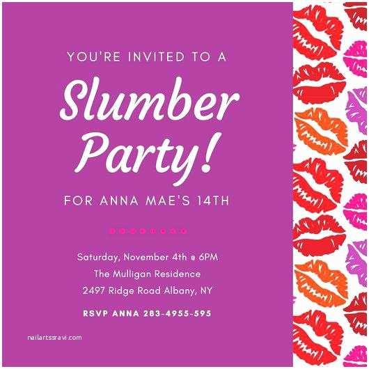 Party City Graduation Invitations Invitation to A Party Also Kiss Mark Border Sleepover with
