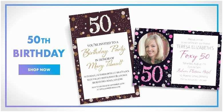 Party City Invitations Custom Milestone Birthday Invitations