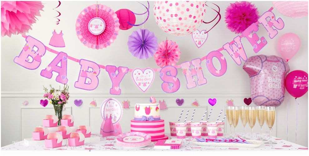 Party City Invitations for Baby Shower It S A Girl Baby Shower Party Supplies
