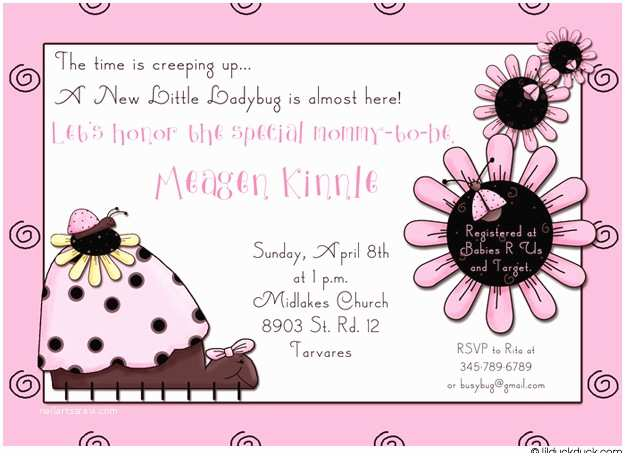 Party City Invitations for Baby Shower Party City Ladybug Baby Shower Invitations