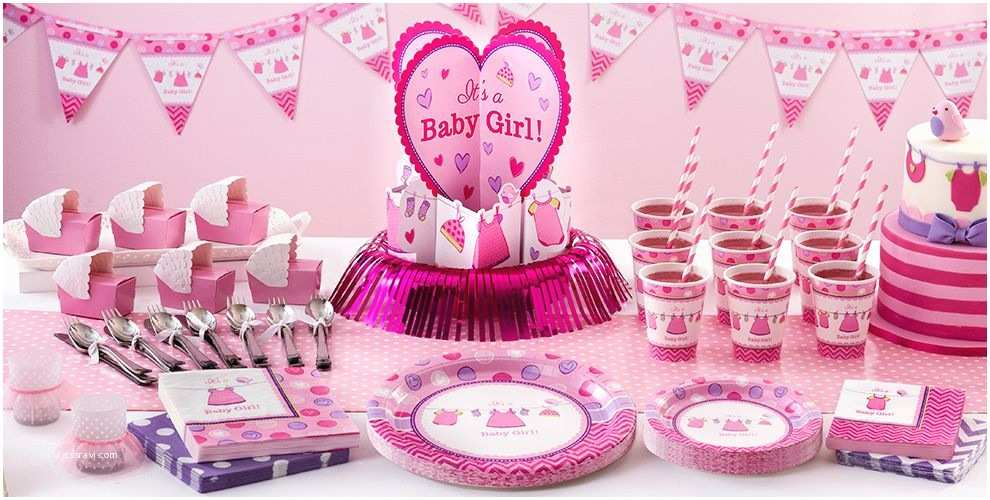 Party City Invitations for Baby Shower Shower with Love Girl Baby Shower Supplies Party City