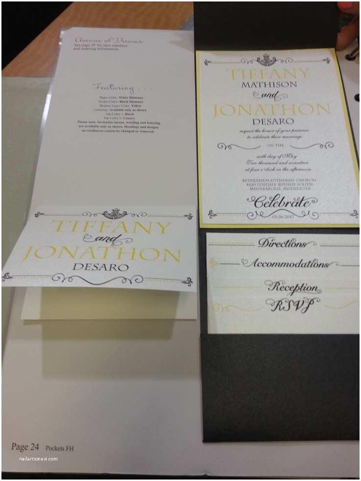 Party City Wedding Invitations Carlson Craft Avenue Of Dreams Pocket Invitations Found at