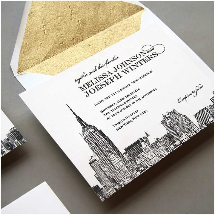 Party City Wedding Invitations New New York City Skyline Wedding Invitation by Steel