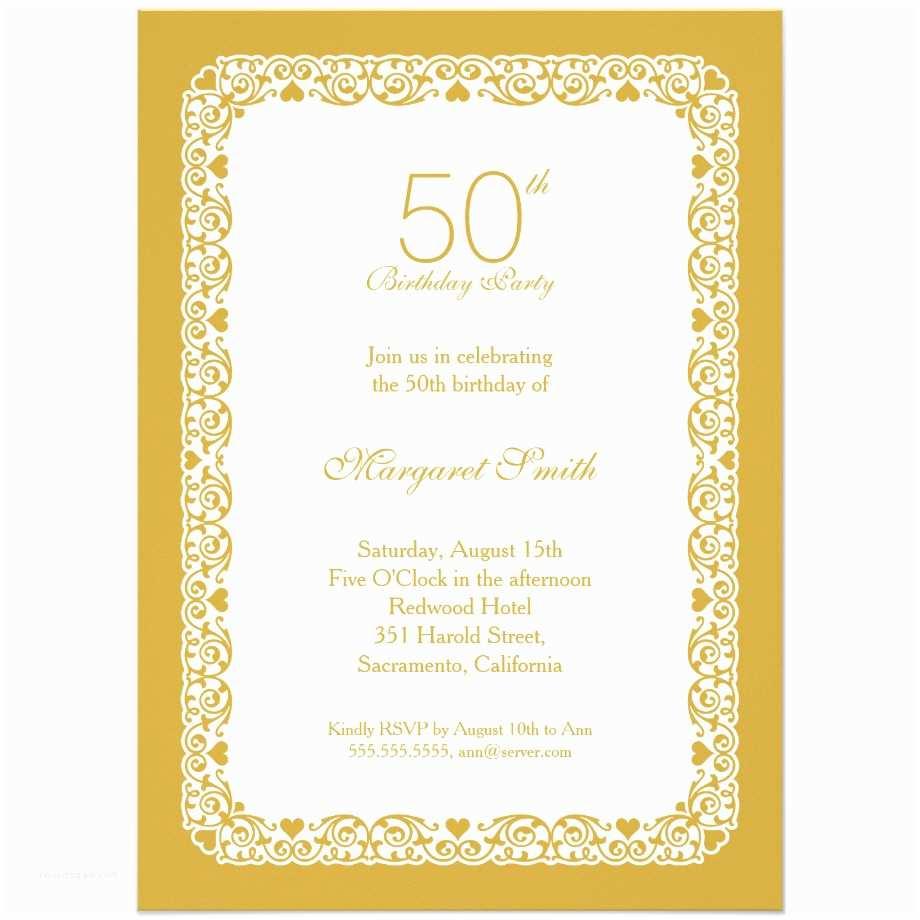 Party Invitation Examples 14 50 Birthday Invitations Designs – Free Sample