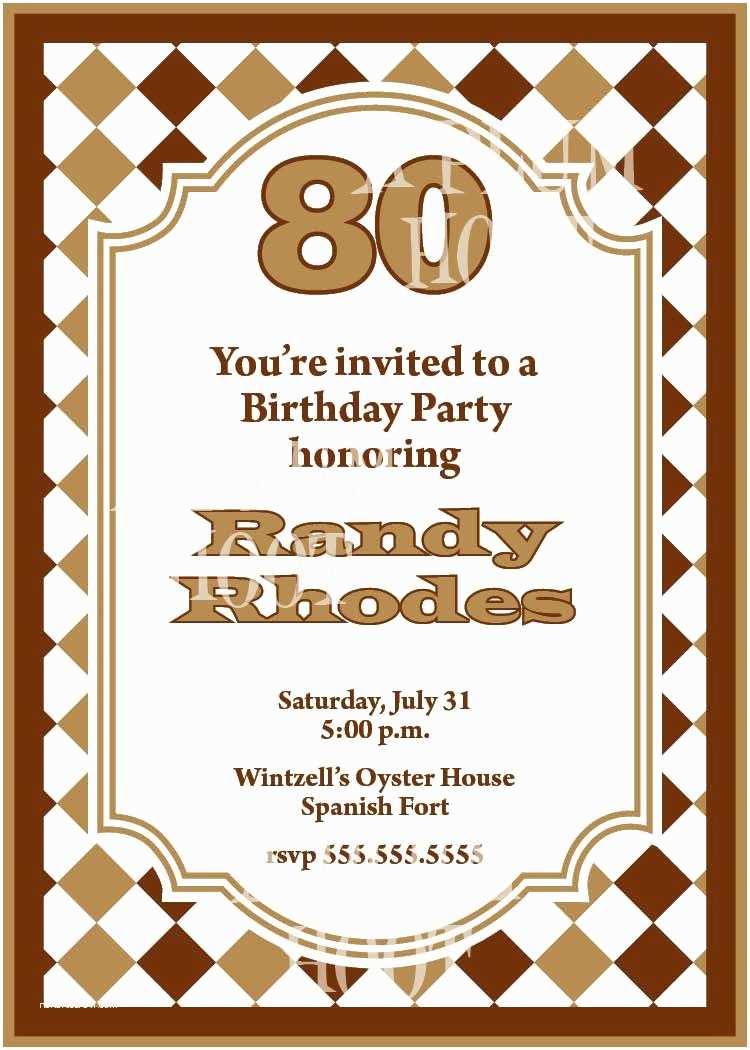 Party Invitation Examples 15 Sample 80th Birthday Invitations Templates Ideas