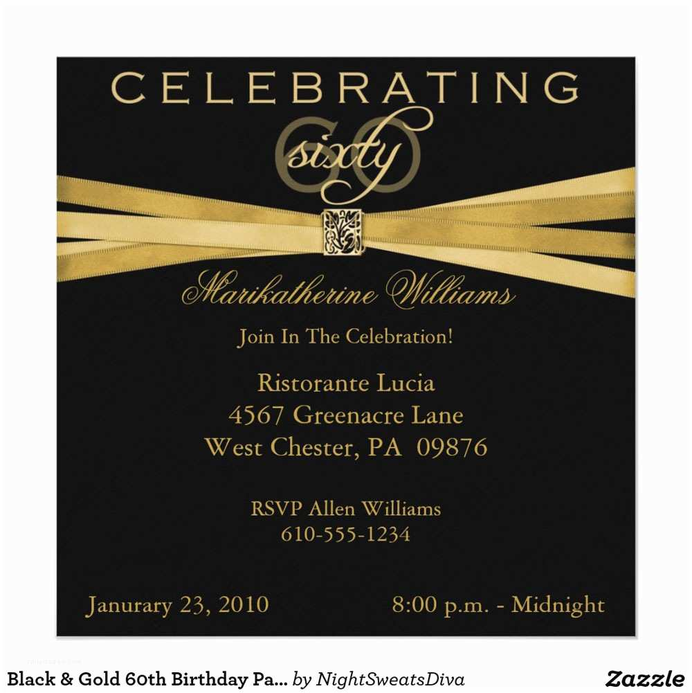 Party Invitation Examples 20 Ideas 60th Birthday Party Invitations Card Templates