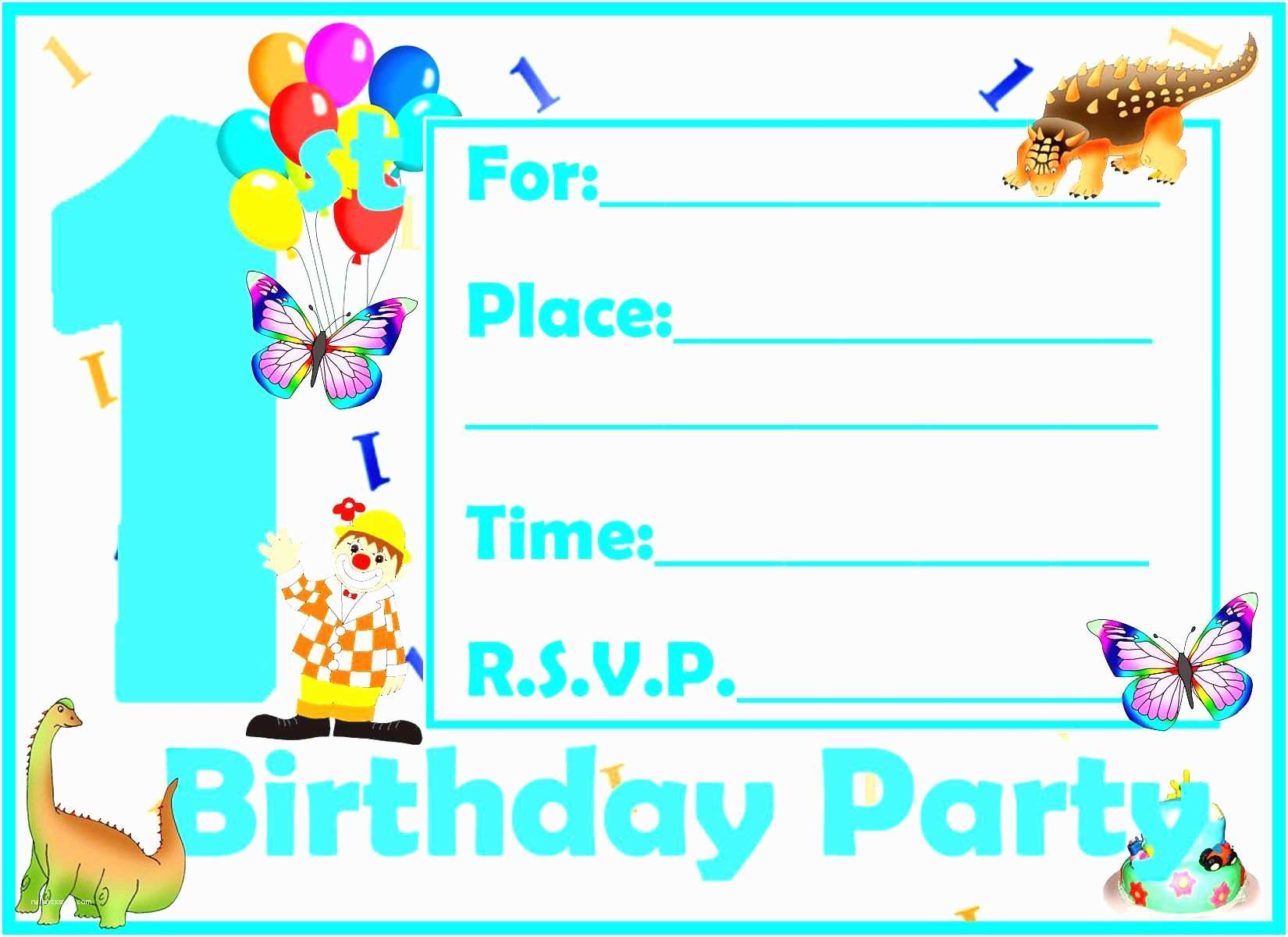 Party Invitation Examples Birthday
