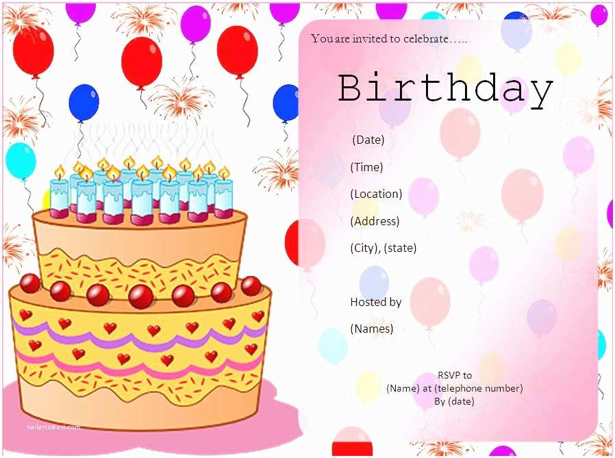 Party Invitation Examples Birthday Template Invitation Happy Birthday Invitations