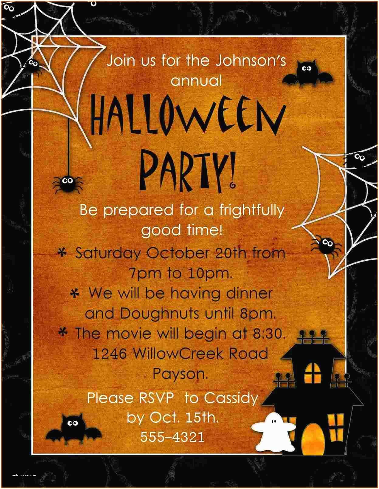 Party Invitation Examples Halloween Party Invitations Templates – Gangcraft