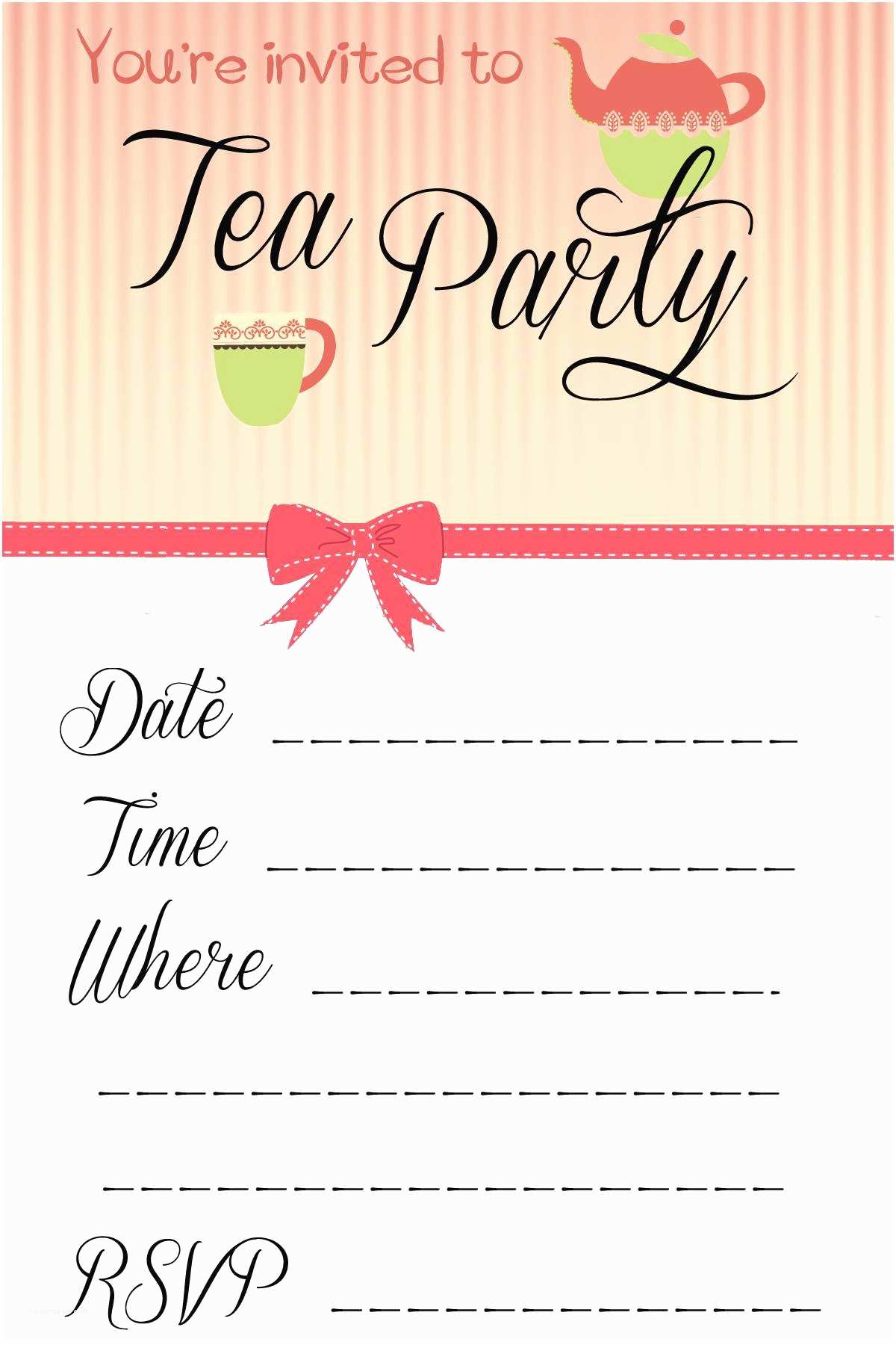 Party Invitation Examples Party Invite Template